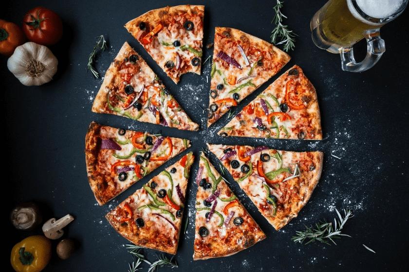 Pizza Sliced Up